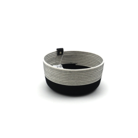 Koba bowl high- black & white M 20X12