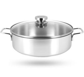 Demeyere APOLLO 7 lage kookpot/hapjespan d24 2.8l
