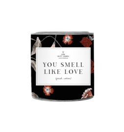 The Gift label - BIG CANDLE- You smell like love