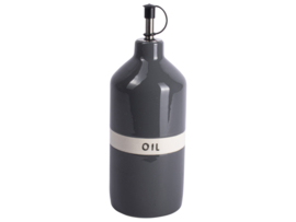 Gusta Olijfolie flesje  Ø8X23CM GRIJ