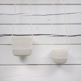 Koba hanging planter Shades of Grey 12-18x15 - L