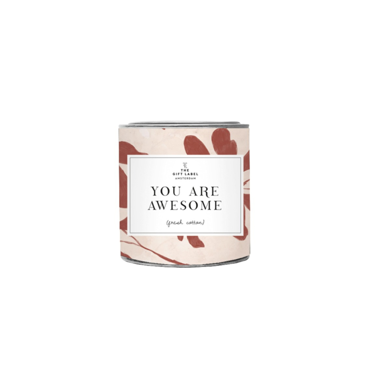 The Gift label - SMALL CANDLE - You are awesome