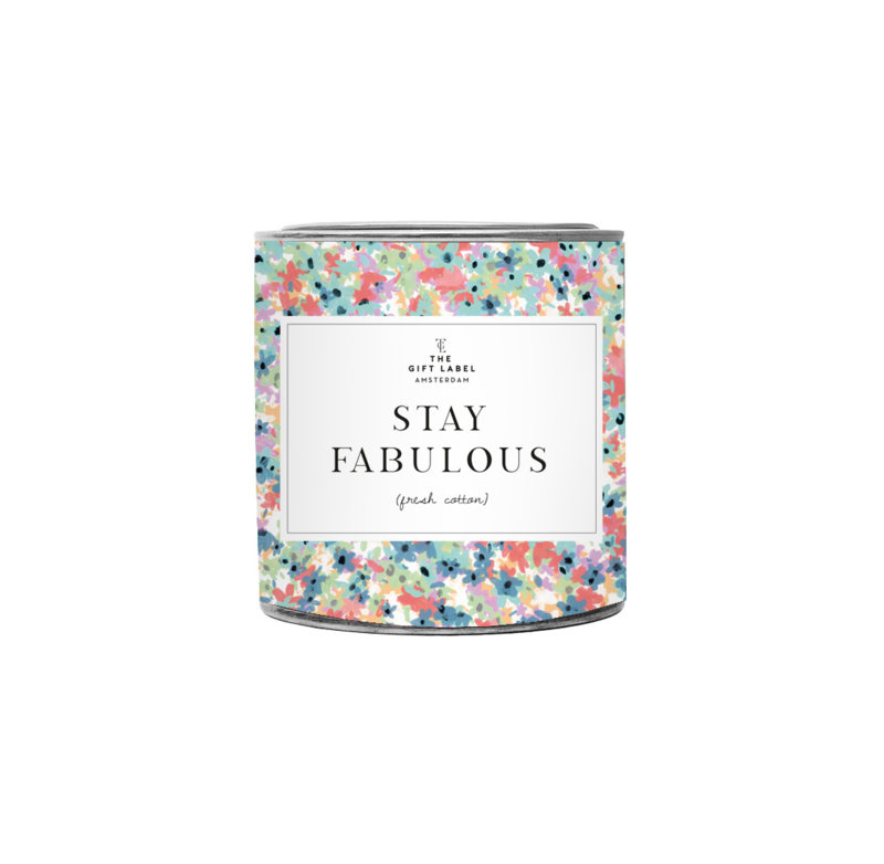 The Gift label - BIG CANDLE - Stay fabulous