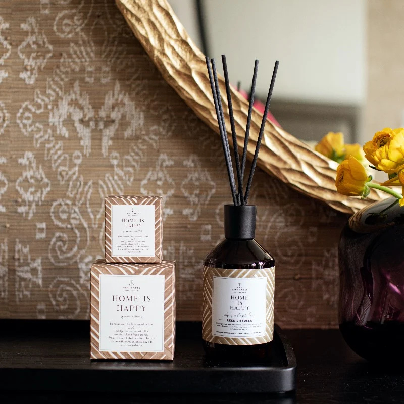 The gift label - REED DIFFUSER- Home is happy