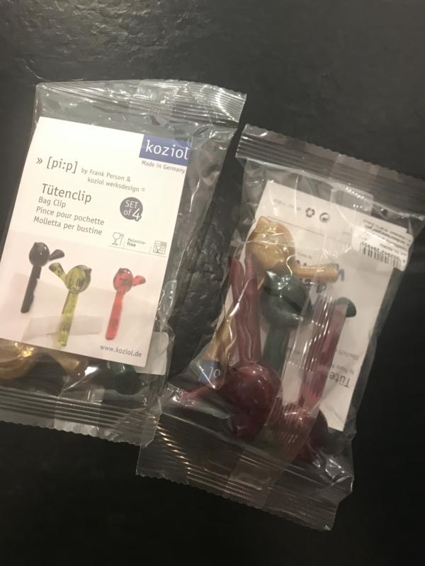 Koziol Bag clip bordeaux/gold/green