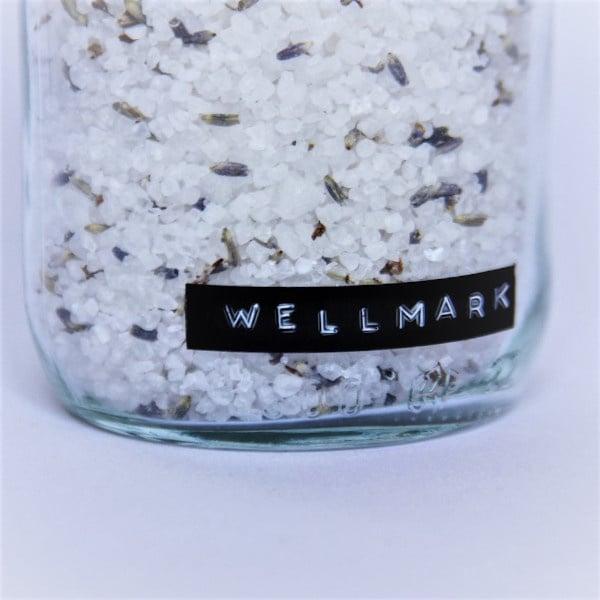 Wellmark Badzout in glazen pot -lavendel-messing 'me time'