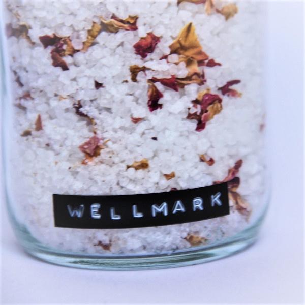 Wellmark Dode zeezout in glazen pot -rozen-messing 'just relax'