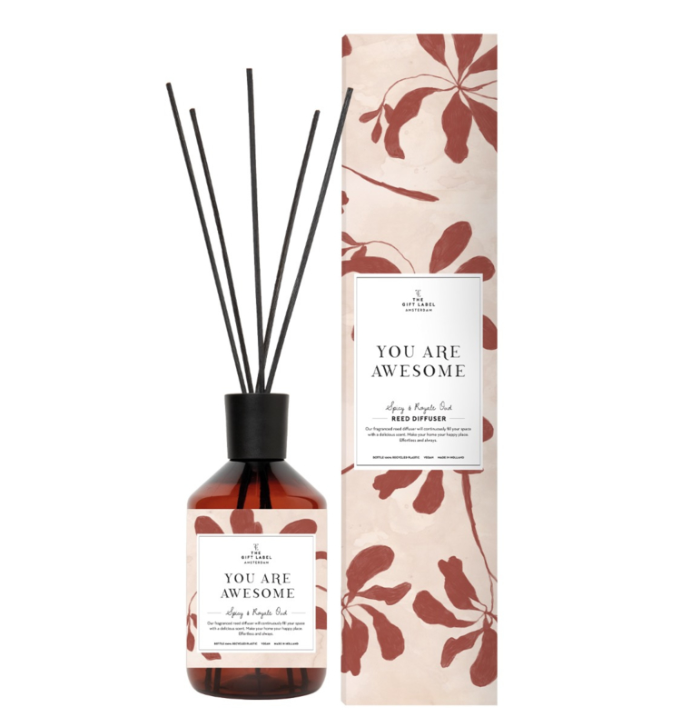 The gift label - REED DIFFUSER- You are awesome
