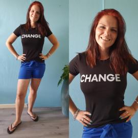 T-shirt Change | Zwart