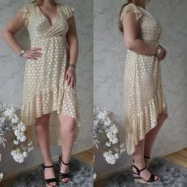 LACE DRESS | BEIGE