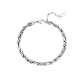 ARMBAND TWISTED   ZILVER