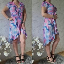 RUFFLE RAINBOW DRESS | LILA