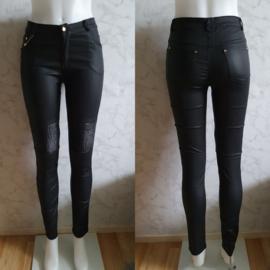 Luxey leather broek | high waist