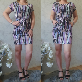 KNOT DRESS ZEBRA | LILA