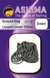 Ashima Ground Hog Looped Leader 120cm green