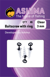 Ashima Baitscrew with ring clear 3mm