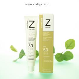Nexultra Z Zinc Only SPF 50, zeer geschikt voor een gevoelige huid of een huid met acne.