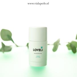 Loveli Deodorant Fresh Cotton, Puur natuurlijke deodorant stick zonder aluminium.