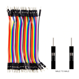 Dupont Jumper kabels 40 stuks (Male-Male) 20cm draadbruggen voor Breadboard