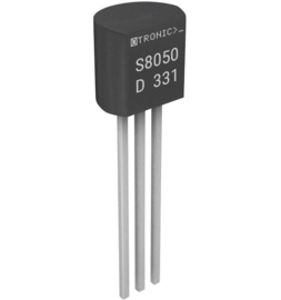 NPN Transistor S8050 D331 25V 0.5A 100MHz 1W TO-92