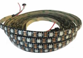RGB LED Strip WS2812B   5m   5V   300 LEDS   IP65   Zwart met controller