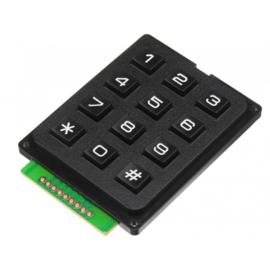 3x4 matrix keypad zwart