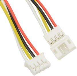 Micro JST PH 4 pins pigtail connector setje male female