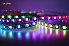 RGB LED Strip WS2812B | 5m | 5V | 300 LEDS | IP65 | Zwart met controller