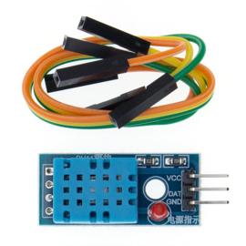 Temperatuur- en luchtvochtigheidssensor in één | DHT11 module voor Arduino