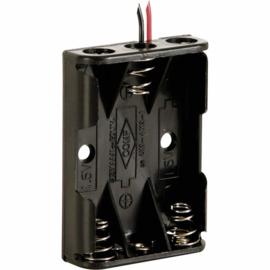 3x AAA batterijhouder