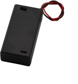 2x AAA batterijhouder met uit/aan schakelaar