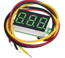 Voltmeter 0V-100V Groen