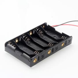 6x AA batterijhouder