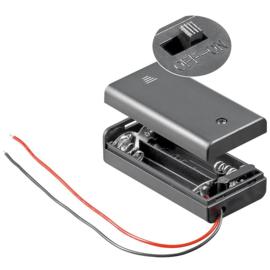 2x AA batterijhouder met aan/uit schakelaar