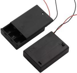 3x AAA batterijhouder met uit/aan schakelaar