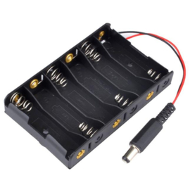 6x AA batterijhouder met DC jack