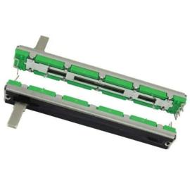 Slider / Fader potmeter 2-kanaals - 75mm 10kΩ