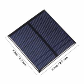 Mini zonnepaneel 70x70mm epoxy