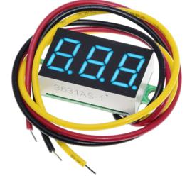 Voltmeter 0V-100V Blauw