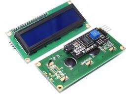 1602 LCD  blauw backlight met  I2C voorgesoldeerd