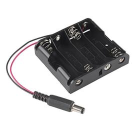 4x AA batterijhouder met DC jack