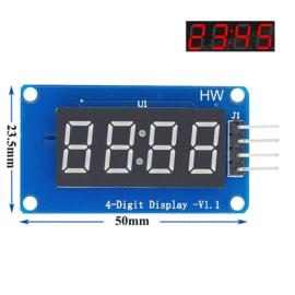 4-digit display Rood TM1637 (7-segmenten per digit)