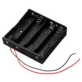4x AA batterijhouder