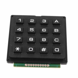 4x4 matrix keypad zwart