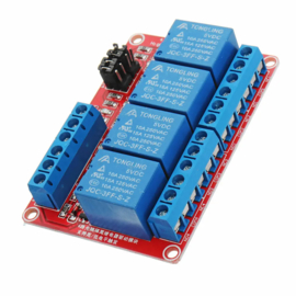 Relais Module 5v | 4-kanaals rood