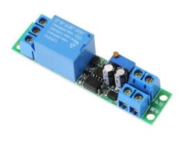 12V instelbare tijdvertraging relais module