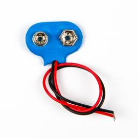 9V batterij clip aansluiting blauw
