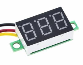 Voltmeter 0V-100V Rood
