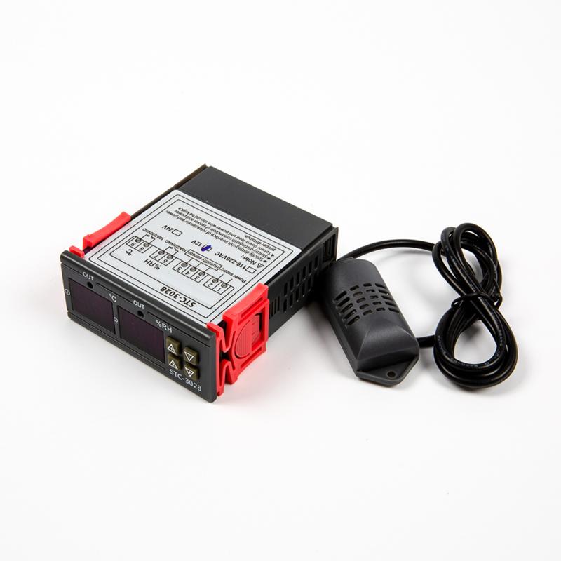 STC-3028 Regelbare Relais 12V op Temperatuur en Luchtvochtigheid