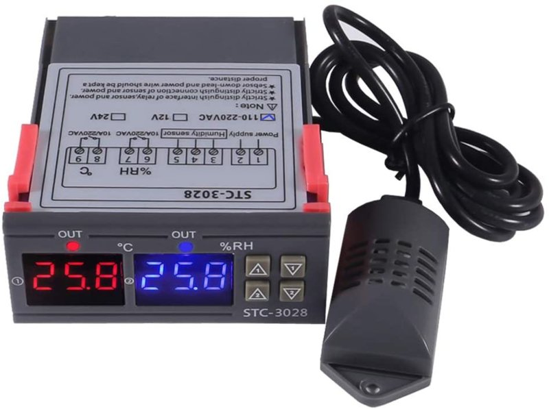 STC-3028 Regelbare Relais 220V op Temperatuur en Luchtvochtigheid